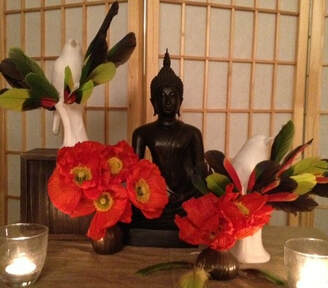 Buddha statue on an altar at an insight meditation class.